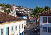 View of Diamantina, UNESCO World Heritage Site, Minas Gerais, Brazil, South America