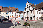 Market Square, Old Town Hall, Endingen, Kaiserstuhl, Breisgau, Black Forest, Baden Wurttemberg, Germany, Europe