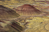 The colourful hills of the Painted Hills unit in the John Day Fossil Beds National Monument, Oregon, United States of America, North America