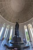 Inside the rotunda at the Jefferson Memorial, Washington D.C., United States of America, North America