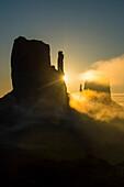Monument Valley at sunrise, Arizona, United States of America, North America