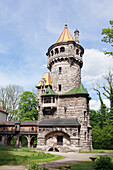Mutterturm Tower, studio of Hubert von Herkomer, built 1844, Herkomermuseum, Landsberg am Lech, Bavaria, Germany, Europe