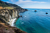 The rocky coast of the Big Sur near Bixby bridge, California, USA