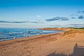 Long sandy beach in the Prince Edward Island National Park, Prince Edward Island, Canada, North America