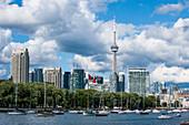 The skyline of Toronto, Ontario, Canada, North America