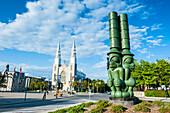 Modern statue, Ottawa, Ontario, Canada, North America
