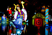 The Magic of Lanterns Festival in the Chinese Garden at the Montreal Botanical Garden, Montreal, Quebec Province, Canada, North America