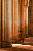 Solitude inside Saint Pierre church abbey in Chartres, Eure-et-Loir, Centre, France, Europe