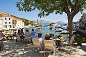 Sipan Island tourists, Elaphiti Islands (Elaphites), Dalmatian Coast, Adriatic, Croatia, Europe