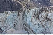 Johns Hopkins Glacier calving, Fairweather Range, Glacier Bay National Park and Preserve, Southeast Alaska, United States of America, North America