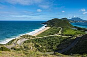 View over Turtle Bay on St. Kitts, St. Kitts and Nevis, Leeward Islands, West Indies, Caribbean, Central America