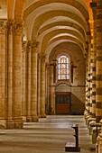 An aisle in St.-Julien du Mans Cathedral, Le Mans, Sarthe, Pays de la Loire, France, Europe