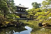 Kannon-den temple structure in the Ginkaku-ji Zen Temple, UNESCO World Heritage Site, Kyoto, Japan, Asia