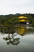 Kinkaku.Ji or golden pavillon buddhist temple,  Unesco world heritage sight Kyoto, Japan