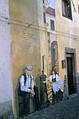 Murals in the village of Tinura, Bosa region, island of Sardinia, Italy, Mediterranean, Europe