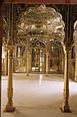 The Sheesh Mahal or (hall of mirrors) a traditional feature of Rajasthan palaces, Kuchaman Fort, Rajasthan state, India, Asia