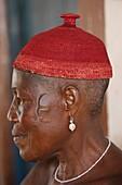 Voodoo priestess in Togoville, Togo, West Africa, Africa