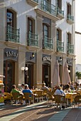 Outdoor cafe, Nerja, Costa del Sol, Andalucia (Andalusia), Spain, Europe