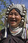 Akha lady, Nun Lin Kong, an Akha village, Kengtung (Kyaing Tong), Shan state, Myanmar (Burma), Asia