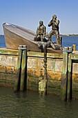 American Merchant Mariners Memorial in Battery Park, Lower Manhattan, New York City, New York, United States of America, North America