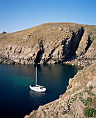 Havre Gosselin anchorage, west coast, Sark, Channel Islands, United Kingdom, Europe