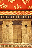 Acupressure points on a mural at Wat Po, Bangkok, Thailand, Southeast Asia, Asia