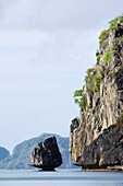 Unusual limestone rock formations near Corong, Bacuit Bay, El Nido Town, Palawan Province, Philippines, Southeast Asia, Asia