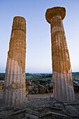 Temple of Heracles, Valley of the Temples (Valle dei Templi), Agrigento, UNESCO World Heritage Site, Sicily, Italy, Europe