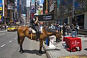 Mounted police officer, Times Square, Midtown Manhattan, New York City, New York, United States of America, North America