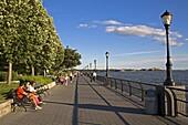Esplanade, Robert F. Wagner Park, Lower Manhattan, New York City, New York, United States of America, North America