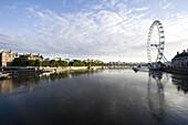 River Thames and London Eye, London, England, United Kingdom, Europe