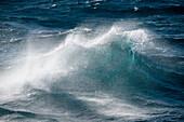 Huge waves in stormy Atlantic Ocean between Buenos Aires in Argentina and Port Stanley in the Falkland Islands, South Atlantic Ocean, near Falkland Islands, British Overseas Territory
