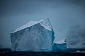 Icebergs and craggy islands, Cape Lookout, Elephant Island, South Shetland Islands, Antarctica