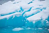 Blue iceberg, Paradise Bay (Paradise Harbor), Danco Coast, Graham Land, Antarctica