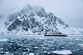 Expedition cruise ship Sea Adventurer (Quark Expeditions), Lemaire Channel, near Graham Land Antarctica