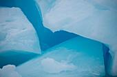 Detail of blue iceberg, Weddell Sea, Antarctic Peninsula, Antarctica