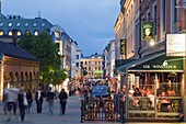 Karl Johans gate, pedestrianised street in the city center, Oslo, Norway, Scandinavia, Europe