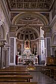 Basilica di Sant Antonino Abate interior, Sorrento, Campania, Italy, Europe