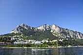 Marina Grande, main port of the Isle of Capri in early morning summer sunshine, Neapolitan Riviera, Campania, Italy, Europe