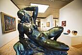 Gottfred Eickhoff sculpture of 1960 of Solbad (Sunbathing), ARoS Aarhus Kunstmuseum (ARoS modern art museum), Arhus, Jutland, Denmark, Scandinavia, Europe