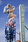 Historic Lucky Lady neon sign on Fremont Street, , Las Vegas, Nevada, United States of America, North America