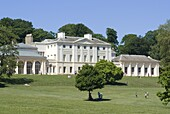 Kenwood House remodeled by Robert Adam in the late 18th century, now housing the Iveagh Bequest, an art collection including Rembrandt, Vermeer and Turner, Hampstead Heath, Hampstead, London, England, United Kingdom, Europe
