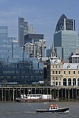 A view of the City of London looking across the Thames from London Bridge, London, England, United Kingdom, Europe