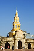 Od Town city wall and Puerto del Reloj, UNESCO World Heritage Site, Cartagena, Colombia, South America