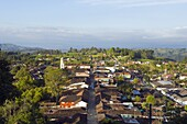 View over town, Salento, Colombia, South America