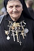 Polish nun in St. Peter's Square for Beatification of Pope John Paul II, Vatican, Rome, Lazio, Italy, Europe