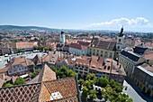 City skyline, Sibiu, Romania, Europe