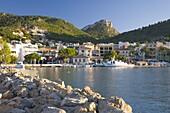 View across the harbour, Port d'Andratx, Mallorca, Balearic Islands, Spain, Mediterranean, Europe