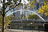 Southgate footbridge over Yarra River, Melbourne, Victoria, Australia, Pacific