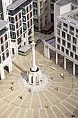 View of Paternoster Square and Column, taken from the Golden Gallery, St. Paul's Cathedral, City of London, London, England, United Kingdom, Europe